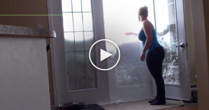 She Opens The Door To Let The Cat In, But WATCH What Happens Next… Oh Dear!!
