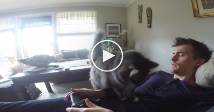He Tries To Play Video Games, But It's Impossible… The Reason Why? Just WATCH.