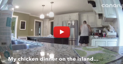 He's Preparing Food, But Then All Of A Sudden… BOOM, He Didn't See That Coming!!