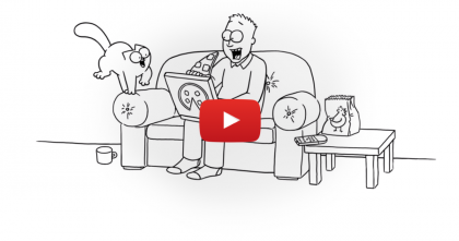 Keep Watching Till 1:23, When Simon's Cat Tries To Sneak Some Pizza From His Owner…