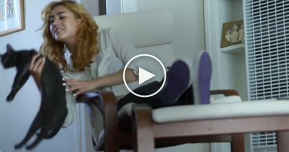 When This 'Dog Person' Finds Out She's Actually A 'Cat Person'… Just Watch, SOO Cute!!