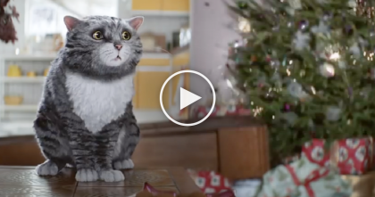 Kitty Almost Ruins Christmas And Burns Down The House…But Just Watch The Ending!