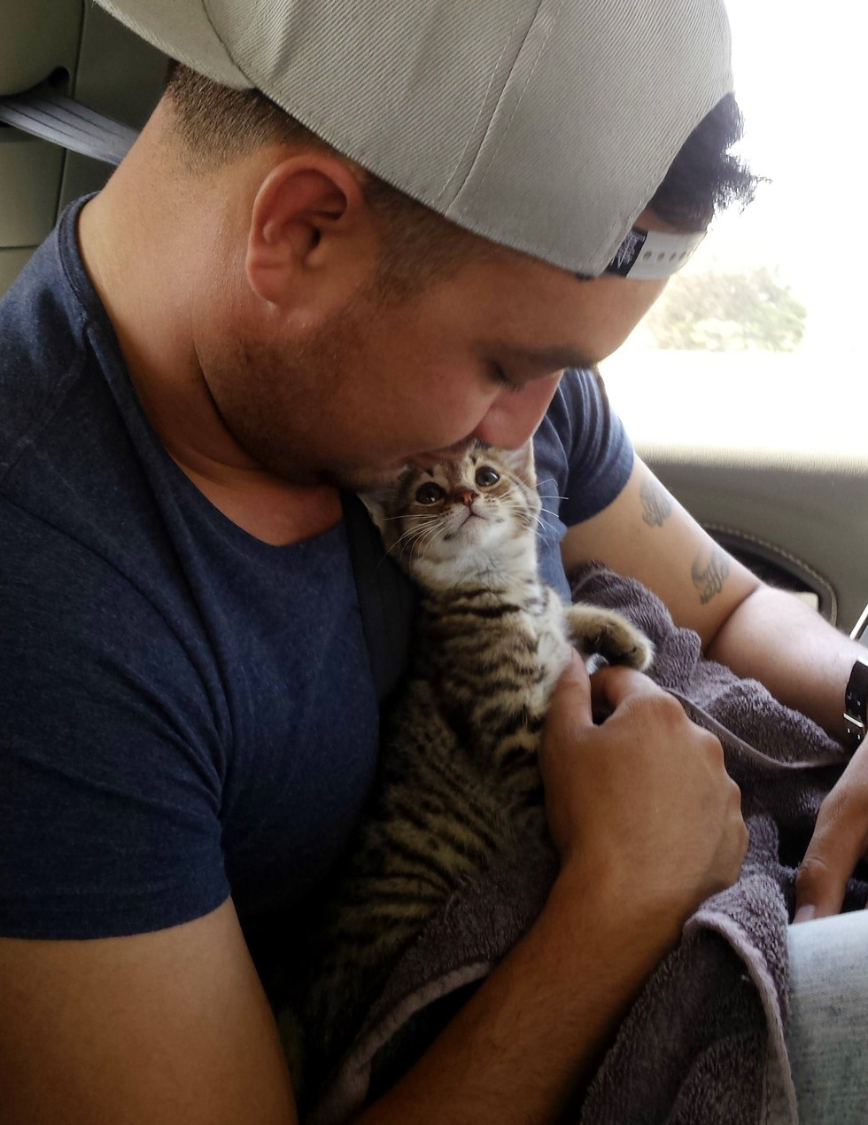 he-rescued-this-kitten-but-the-moment-kitten-realizes-hes-going-to-his-forever-home-sweetest-ever