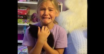 She Surprises Her Daughter With A Rescued Kitten, When The Girl Sees It? She Completely Breaks Down