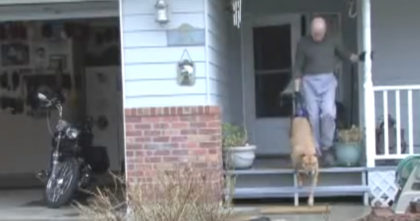 People laugh and stare at this guy when he goes for a walk with his dog, but when you see why…